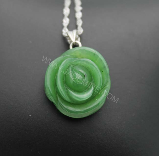 $89.98 Hand Carved Canadian Jade Pendant available in 2 sizes