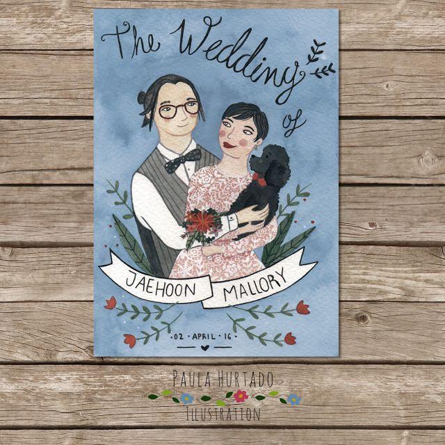 Invitación de boda personalizada :) #customWeddingInvitation #wedding #weddingInvitation