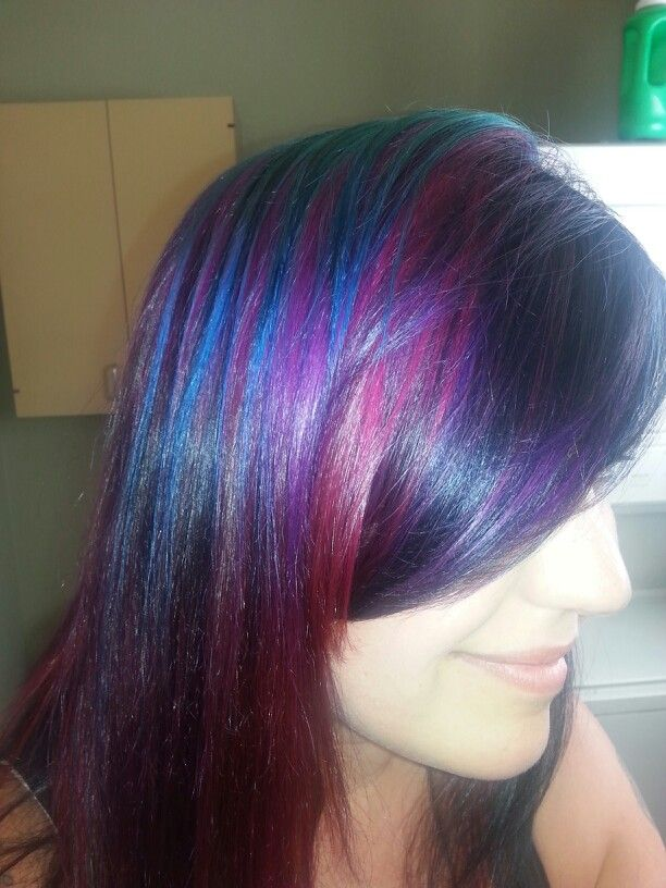 New Goldwell Turquoise Copper Red Violet And Violet Hair