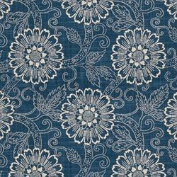 indigo medallion fabric calico corner | All Products / Bedroom / Fabric / Upholstery Fabric