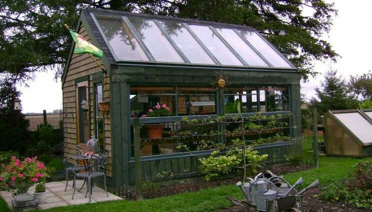 A dream green house incorporating recycled doors!