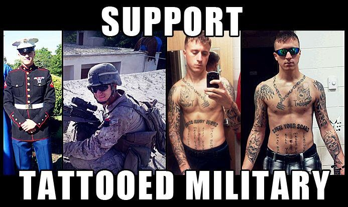 soldiers tattoos military support Military honors