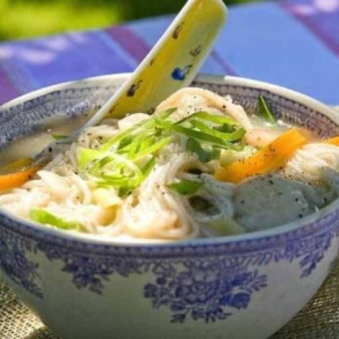 Vietnamesisk soppa med dumpling