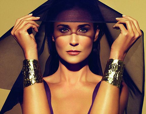 Demi Moore in a New Beauty Campaign   Photoshop Overload or Acceptable?