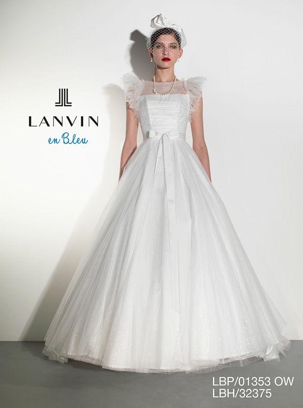 アクア・グラツィエがセレクトした、LANVIN EN BLEU(ランバン オン ブルー)のウェディングドレス、LB01353をご紹介いたします。