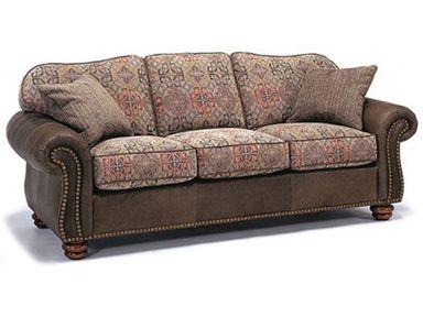 Shop For Flexsteel Melange Sofa With Nails, 3649 31, And Other Living Room