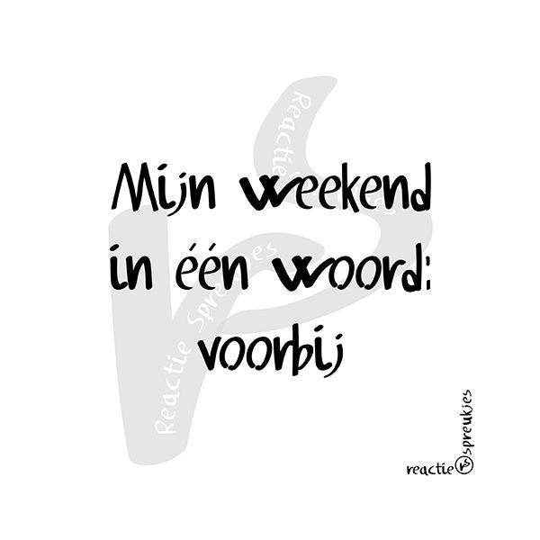 Voorbij #weekend