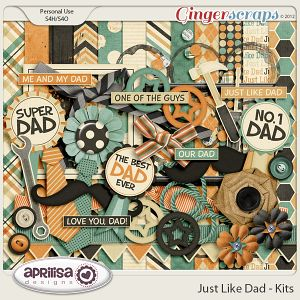 Just Like Dad Kit by Aprilisa Designs