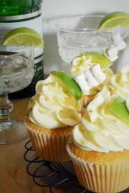 Gin and Tonic Cupcakes...wonder if I could use vodka instead...hmmm...may have to try both