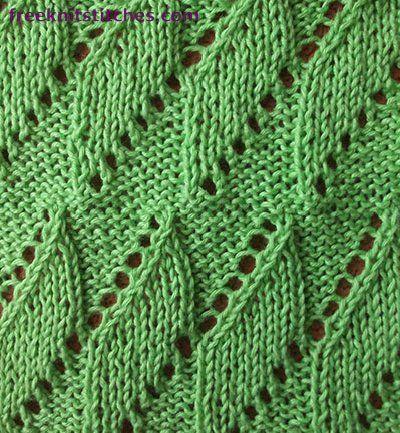Knitting Stitch Patterns -- Leaf Stitches-- Breeze
