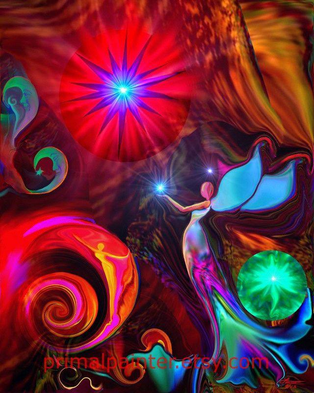 "Chakra Angel Energy Healing Art Print """"Gratitude"""""