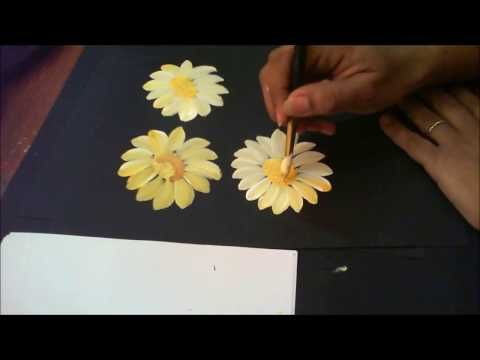 One Stroke Painting with Donna Dewberry - How to Paint a Sunflower, Pt. 1: Blossom - YouTube