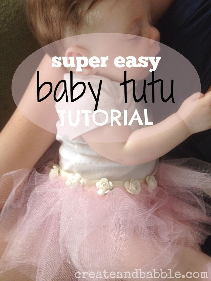 If you can sew a straight line, you can make an adorable baby tutu quickly and easily | createandbabble.com #sewing #easysewing #tutu