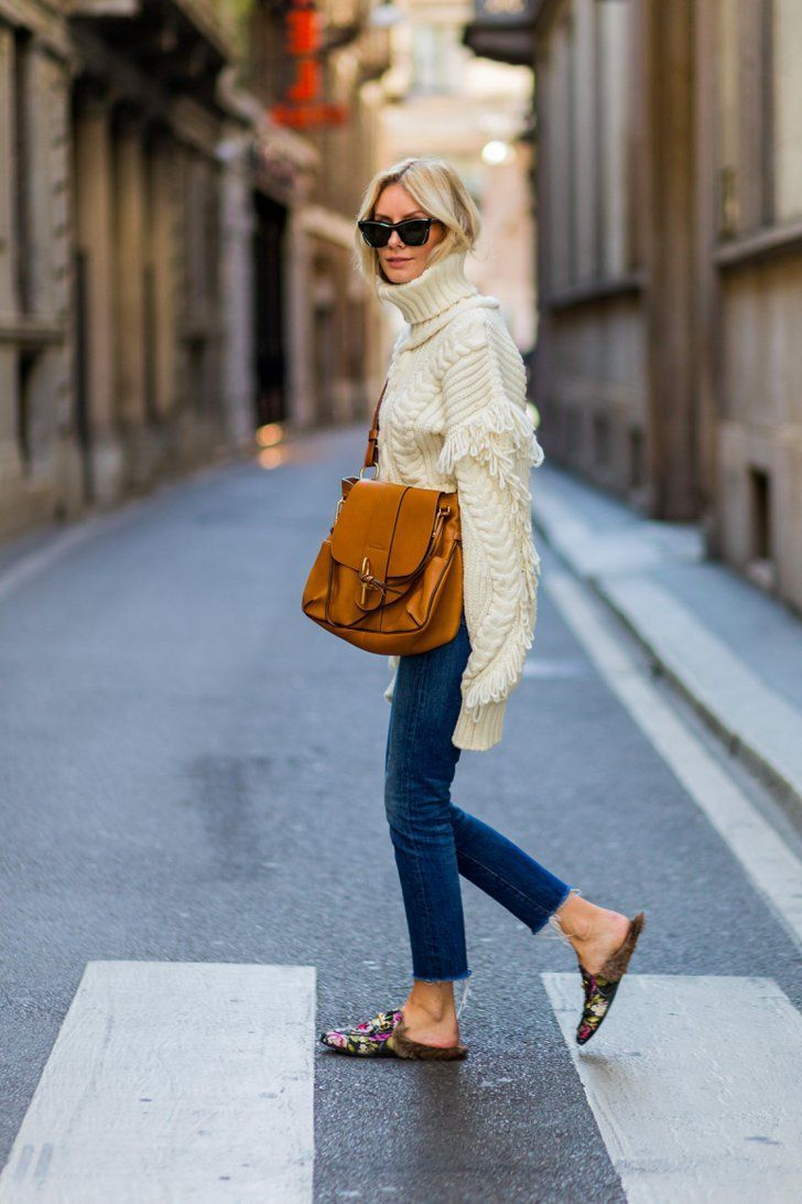 This winter, pair a chunky turtleneck with jeans and funky gucci loafer slip-ons for a fun look. Let Daily Dress Me help you find the perfect outfit for whatever the weather! dailydressme.com/
