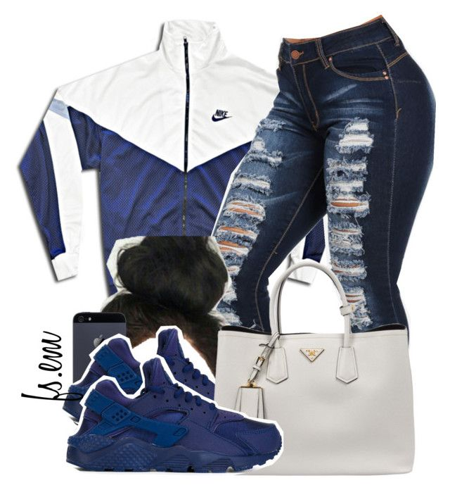 """"""""""" by fsxem ❤ liked on Polyvore featuring NIKE and Prada"""