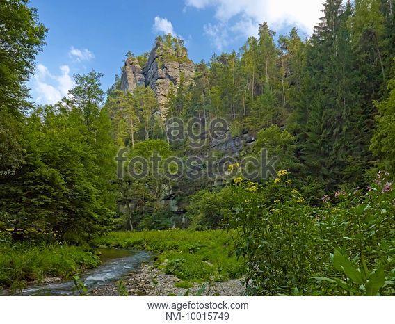 Polenz valley near Hohenstein, Saxon Switzerland-East Ore Mountains, Saxony, Germany