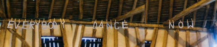 Tanzflächen-Girlande. #Hochzeit #Party