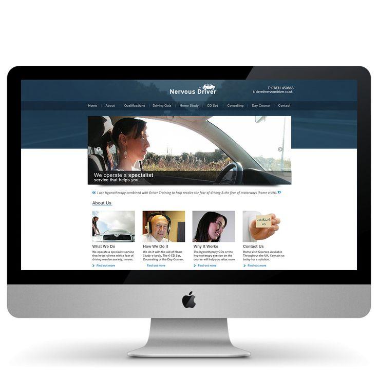 #Clean minimal design driving website, under development