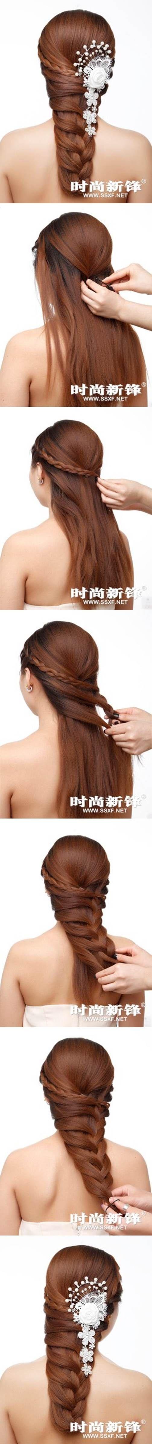 How to make a asymmetrical braid hairstyle hair diy hairstyle diy hair braid hairstyle