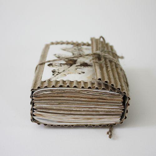 Oak Fragments by Lotta Helleberg - Wrap-around cardboard cover, eco printed…