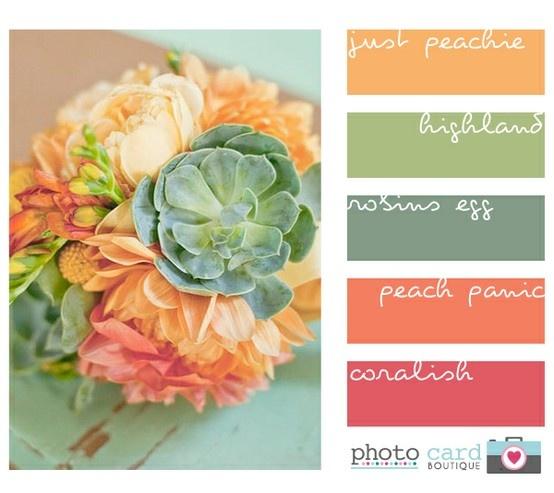 Beautiful summer/fall color scheme