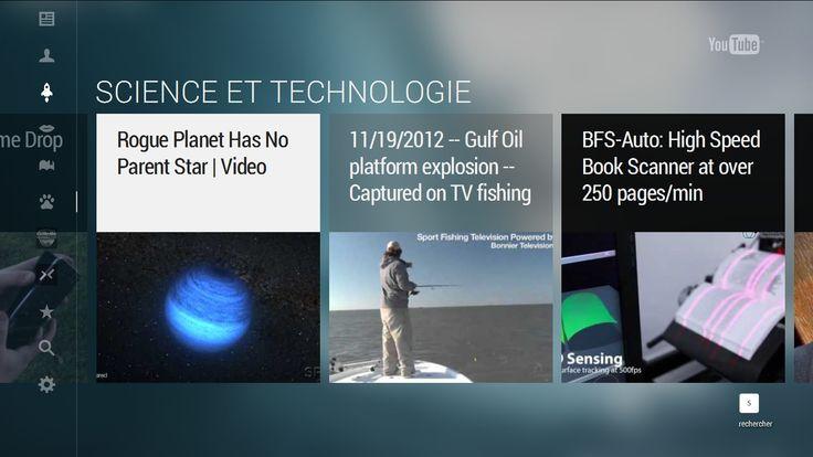 YouTube : TV interface