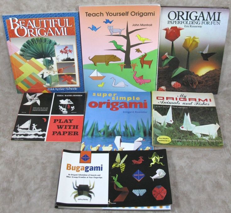 Origami Lot Of 7 Various Paper Folding Books Paperback & Hardcover