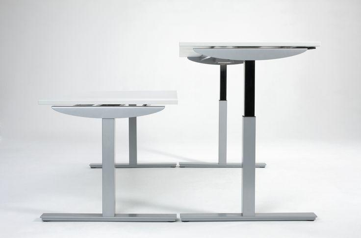 Elektrisch höhenverstellbarer Schreibtisch - ergonomisch und motivierend.