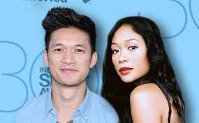 Harry Shum Jr. (Mike) and his real life wife.