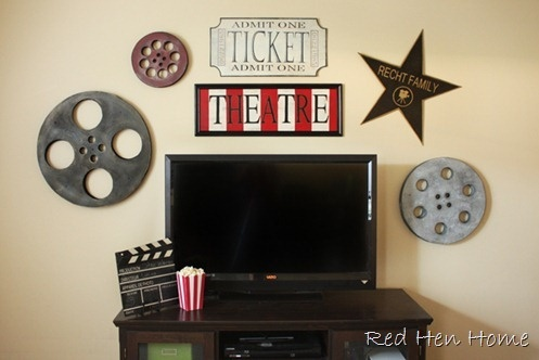 Love this for our movie theatre room such cute decor