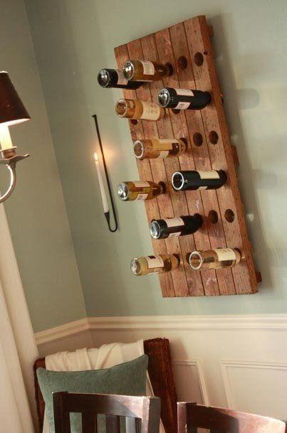 Creative Wine Bottle Storage
