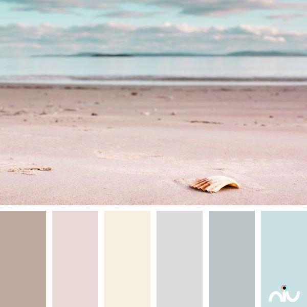 pastel beach  landscape  color palette
