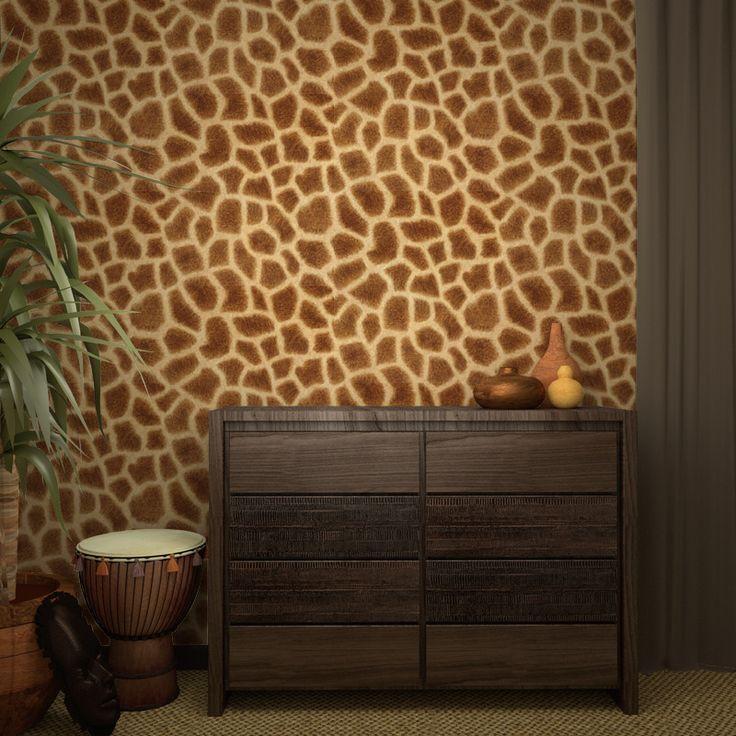GIRAFE MASAÏ : #girafe #afrique #animaux #intissé.