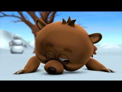 MovieTalk - el oso, el mono de nieve, hace, tira, la bola de nieve, lo destruye