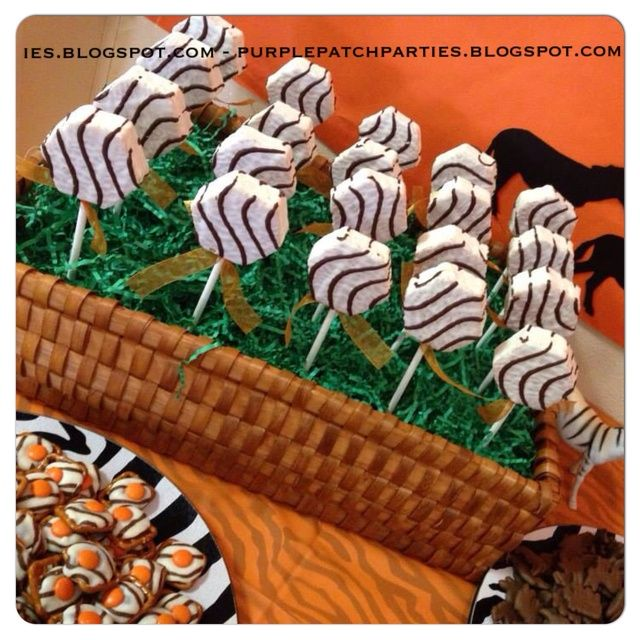 Disney's Lion King Baby Shower Party Little Debbie Zebra Cakes