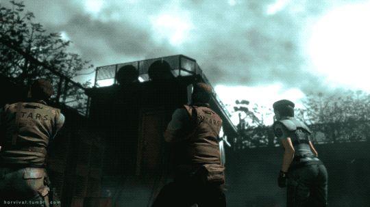 HV. 110    Resident Evil - Biohazard HD REMASTER (2015)    Fighting a Tyrant.    Survival Horror Games