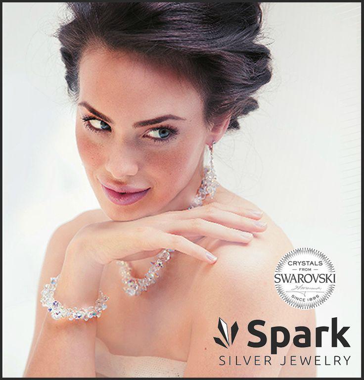 """Spark silver jewlery  Spark Silver Jewelry is modieus, speels en toch uitdagend.  De """"sparkelende"""" collectie is geproduceerd uit 925 ZILVER gecombineerd met schitterende Swarovski kristallen. #spark #sparksieraden #sieraden #jdbw"""