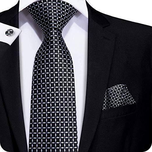 3cd964c2 Black and White Check Tie Set LBW244 in 2019 | Elegant man | Tie ...