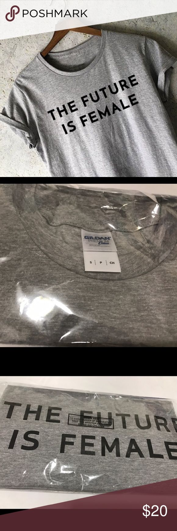 """NWT!! Small """"The Future is Female"""" Cotton T-shirt Brand new unopened THE FUTURE IS FEMALE Gray short sleeved t-shirt in size small. Nasty Gal tagged for exposure. Brand is Gildan. Price as listed or best offer. Nasty Gal Tops Tees - Short Sleeve"""