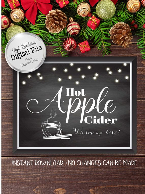 Hot Apple Cider Sign Warm Up Here Sign by AndreasDesignStudio