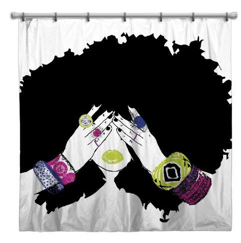 Chanel Shower Curtain ~ Pardon My Fro Shop
