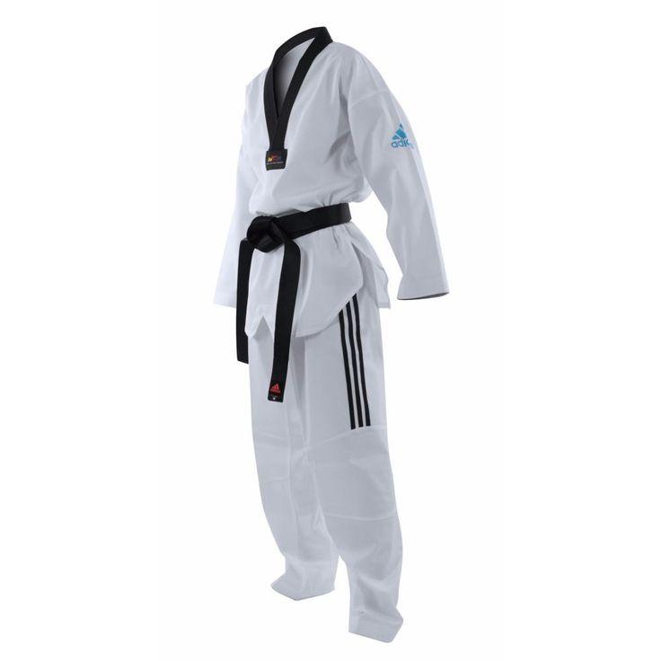 Dobok Taekwondo Adidas Adizero Lght Flex - ADITZO01 logo solar blue