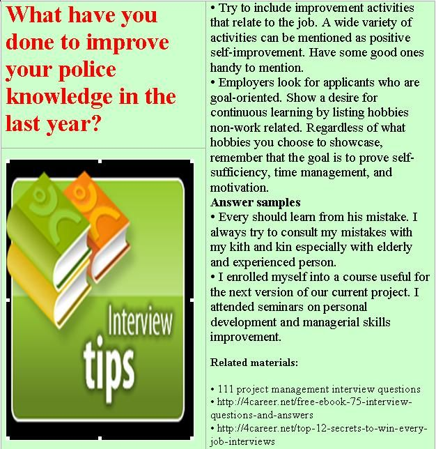 16 best sample police interview questions images on Pinterest - military police officer sample resume