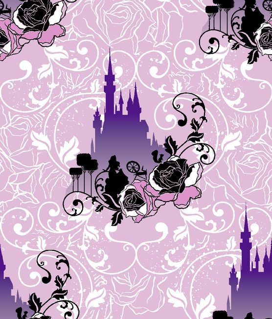 Disney Maleficent Castle Scenic Cotton Fabric at Joann.com