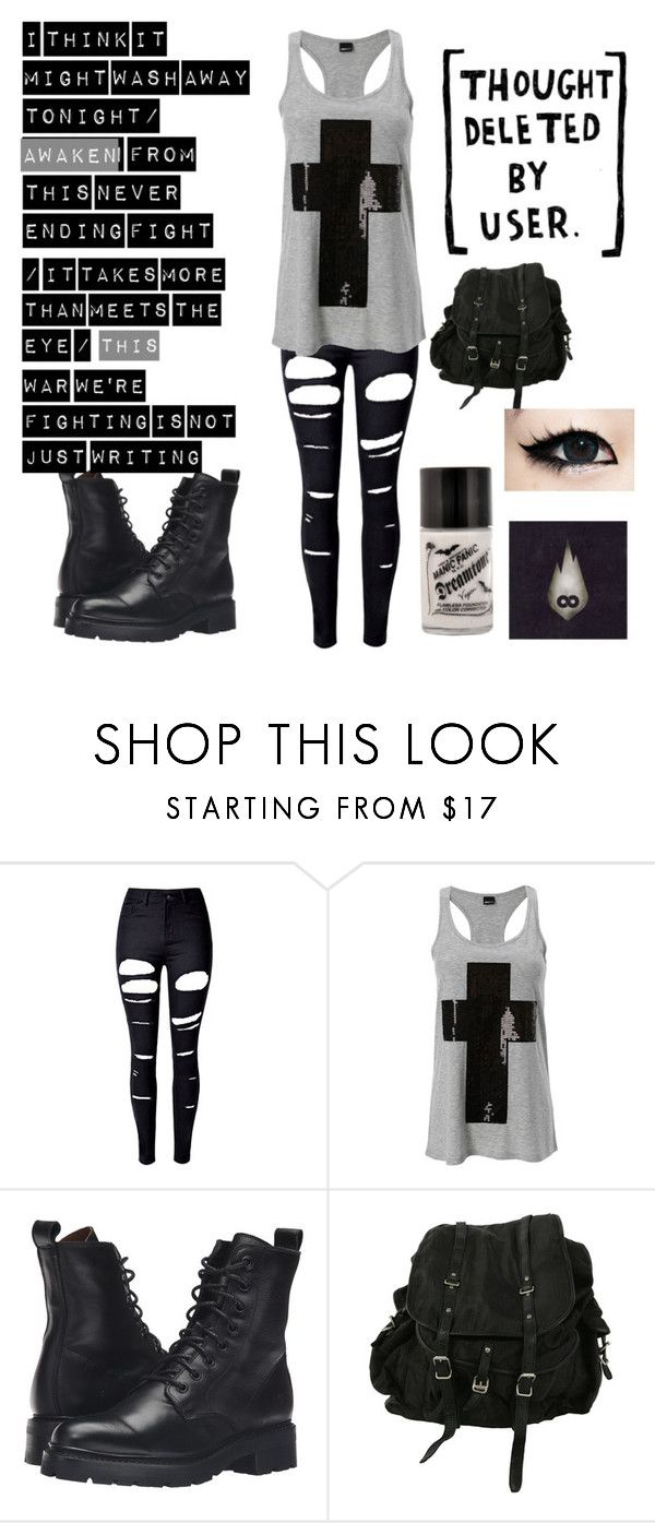 """""""Courtesy Call-Thousand Foot Krutch"""" by abbytheunicorn ❤ liked on Polyvore featuring WithChic, Frye and AllSaints"""