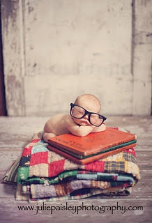 My awesome friend Julie is great with newborns! I just love this little nerdy hipster baby!! :)  juliepaisleyphotography.com