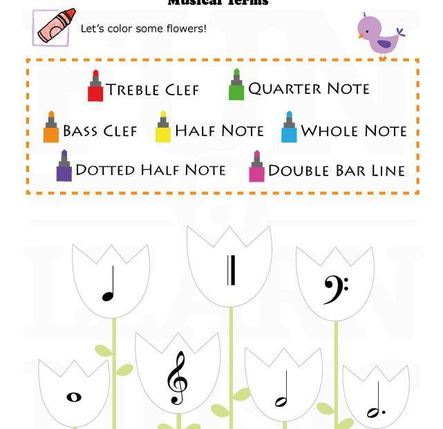 Music Worksheets For Kindergarten