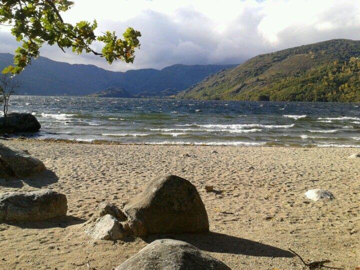 Lago de Sanabria en Galende, País Llionés