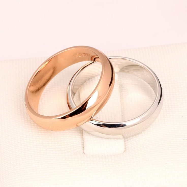 Top Quality Simple Design Couple Round Rings Rose/White Gold Plated Fashion Brand Jewelry For Men & Women Wholesale DFR049