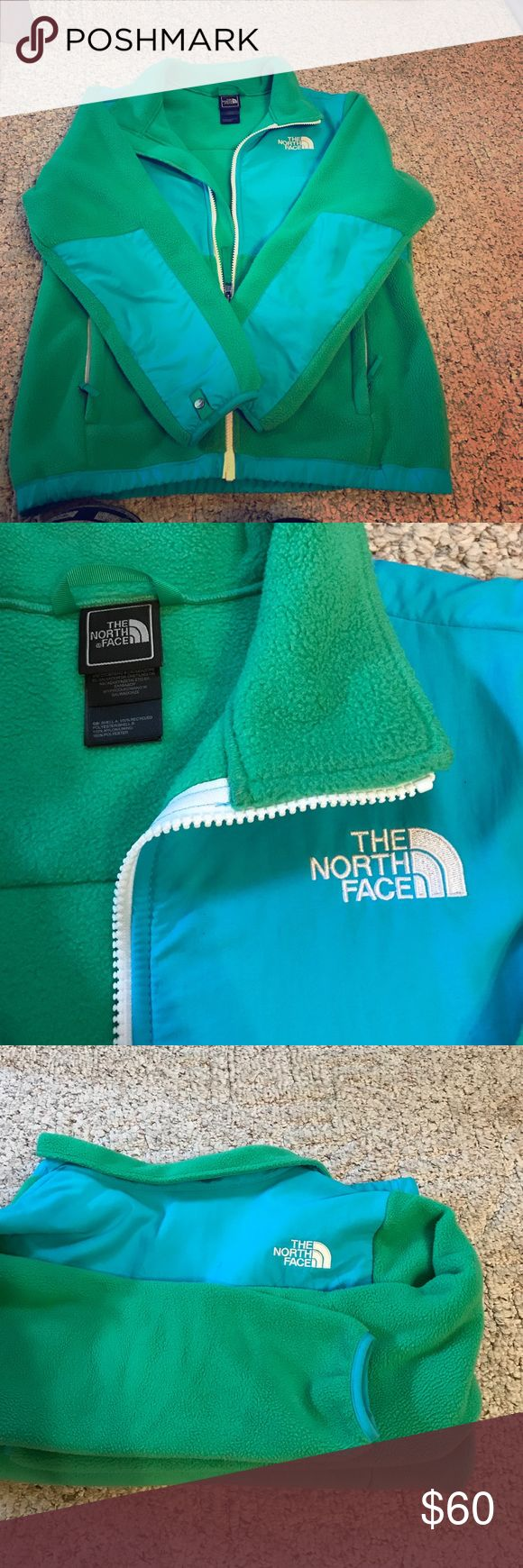 Girls North Face jacket Gently used girl's North Face. Very vibrant and bold colors. No signs of damage or wear. Large size can fit a younger teen or petite adult. North Face Jackets & Coats